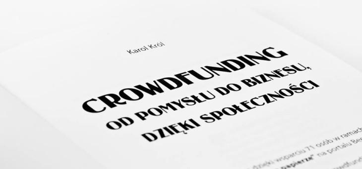 "Sneak peak elementów książki ""Crowdfunding"""